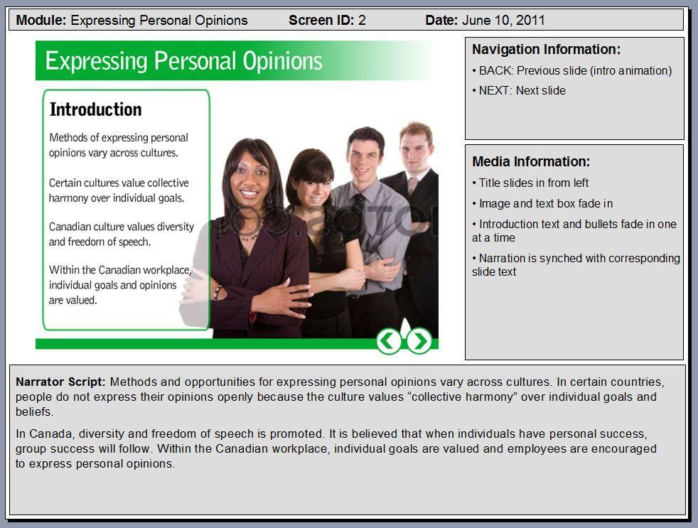 PowerPoint: Sample eLearning Storyboard Slides | Template, Samples ...