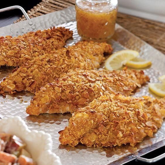 No oil is needed to get a crunchy crust on these catfish fillets.