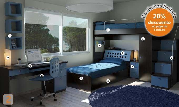 Dormitorio Genova ~ dormitorio genova habitacion muebles juveniles colores juveniles 104 codigo W27 08082011 194457