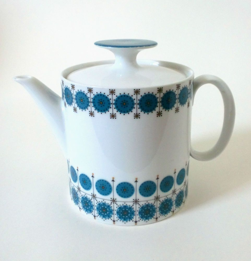 60s Thomas Medaillon Smaragd Teekanne Hans Theo Baumann Teapot Teekanne Vintage Keramik Und Porzellan
