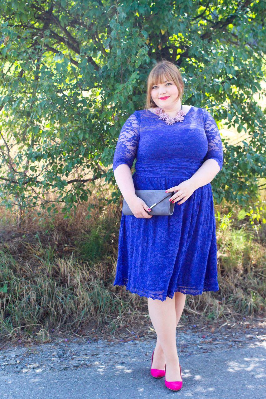 Something Blue Plus Size Hochzeitsgast Outfit • kathastrophal