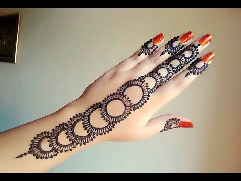 Wrist Mehndi Patterns : Latest arabic henna designs for hands mehndi with cap