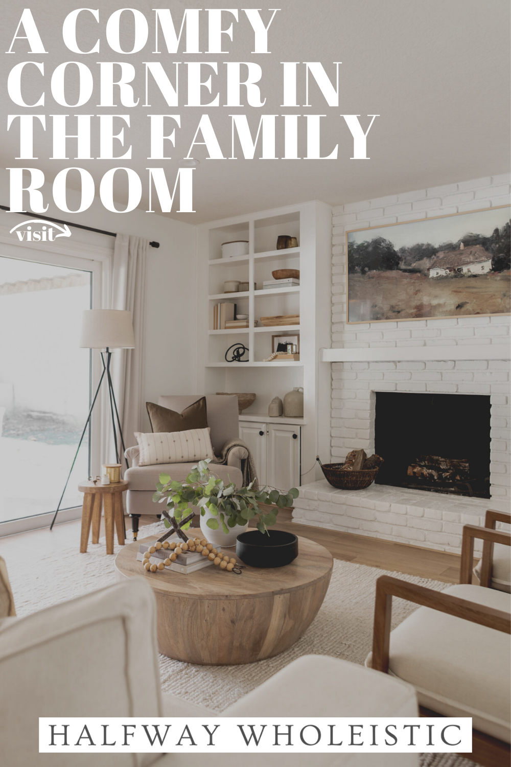 A Comfy Corner In The Family Room In 2021 Living Room Design Small Spaces Family Room Small Family Room