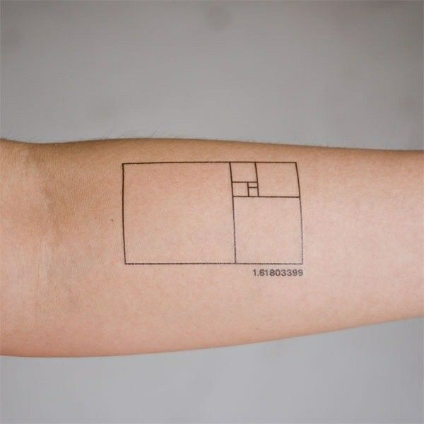 Secuencia Fivonachi espiral matematicas & tatuajes