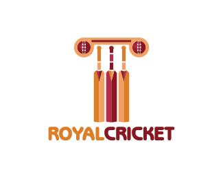 Royal Cricket Logo Design Logo Design Of A Pillar Made From Cricket Balls And Paddles Price 299 00 Cricket Logo Design Logo Design Cricket Logo