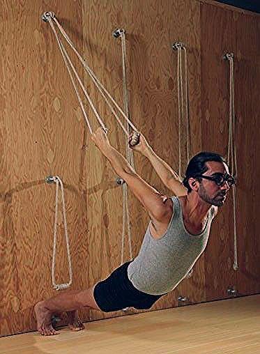 5 Reasons To Try Rope Wall Yoga - mindbodygreen.com Home Gym Decor | Home Decor | Home Gym Ideas | H...