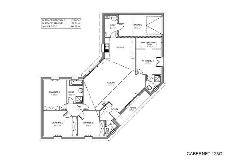 Plan Maison En U Plain Pied Free Hd Wallpapers Bois De Ouvert Cheap Avec Maison En U Plain Pied ...