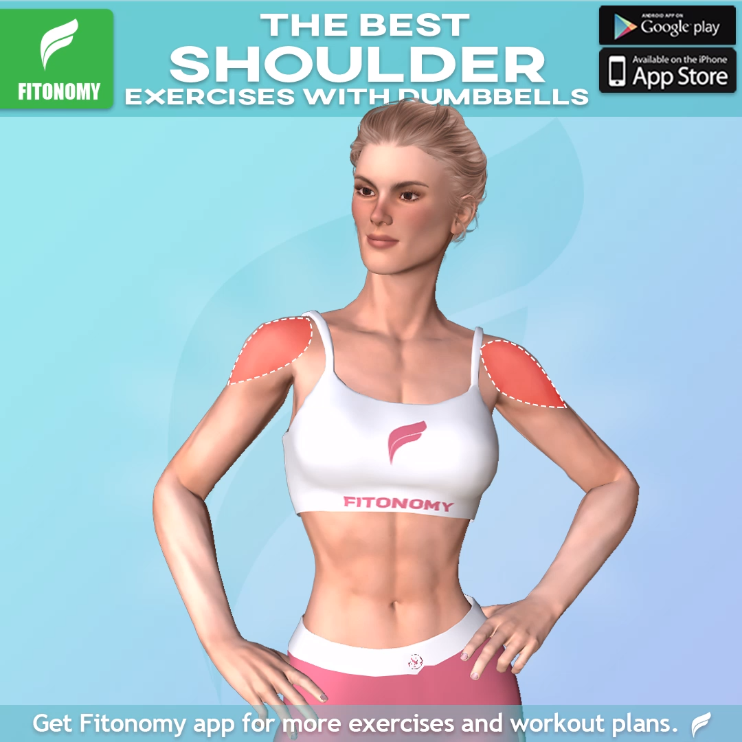 The best shoulder exercises from Fitonomy App! .#athomeworkout #exercisefitness #fit #fitness #exeri...
