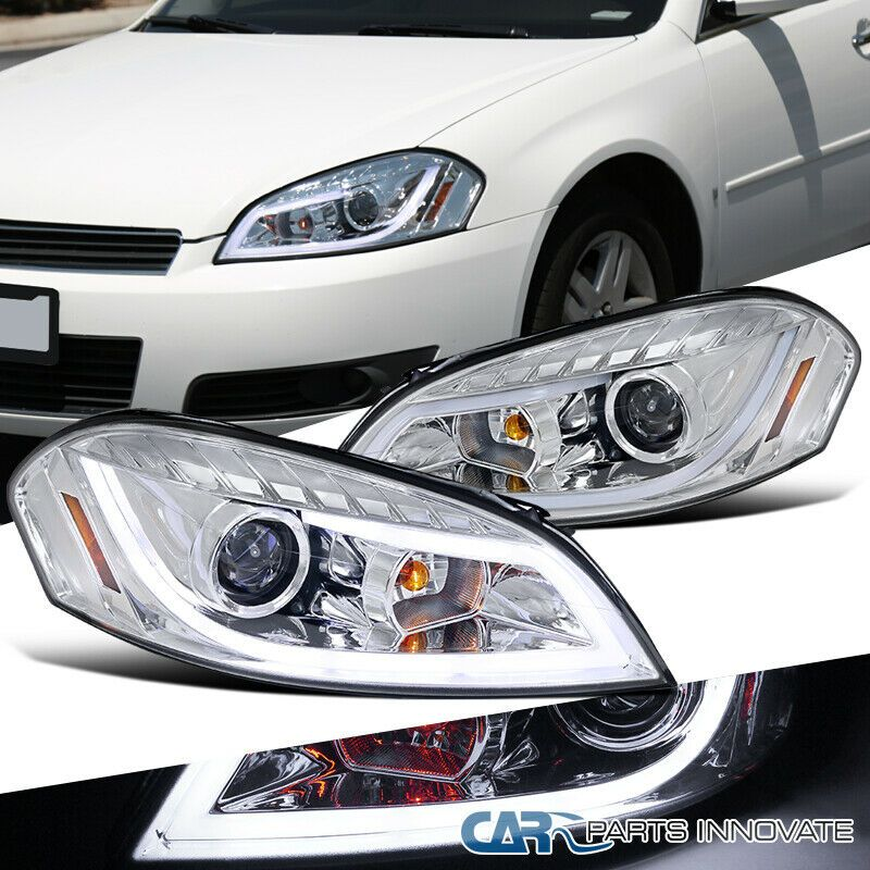 Ad Ebay Chevy 06 13 Impala 06 07 Monte Carlo Clear Led Drl Strip Projector Headlights Projector Headlights Impala Chevy