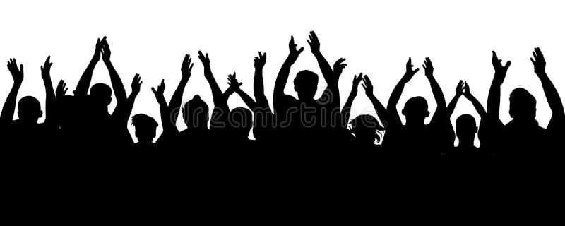 Applause Audience Crowd People Cheering Cheer Hands Up Cheerful Mob Fans Appl Affiliate Ch Wedding Photography Album Design Business Icons Vector Crowd
