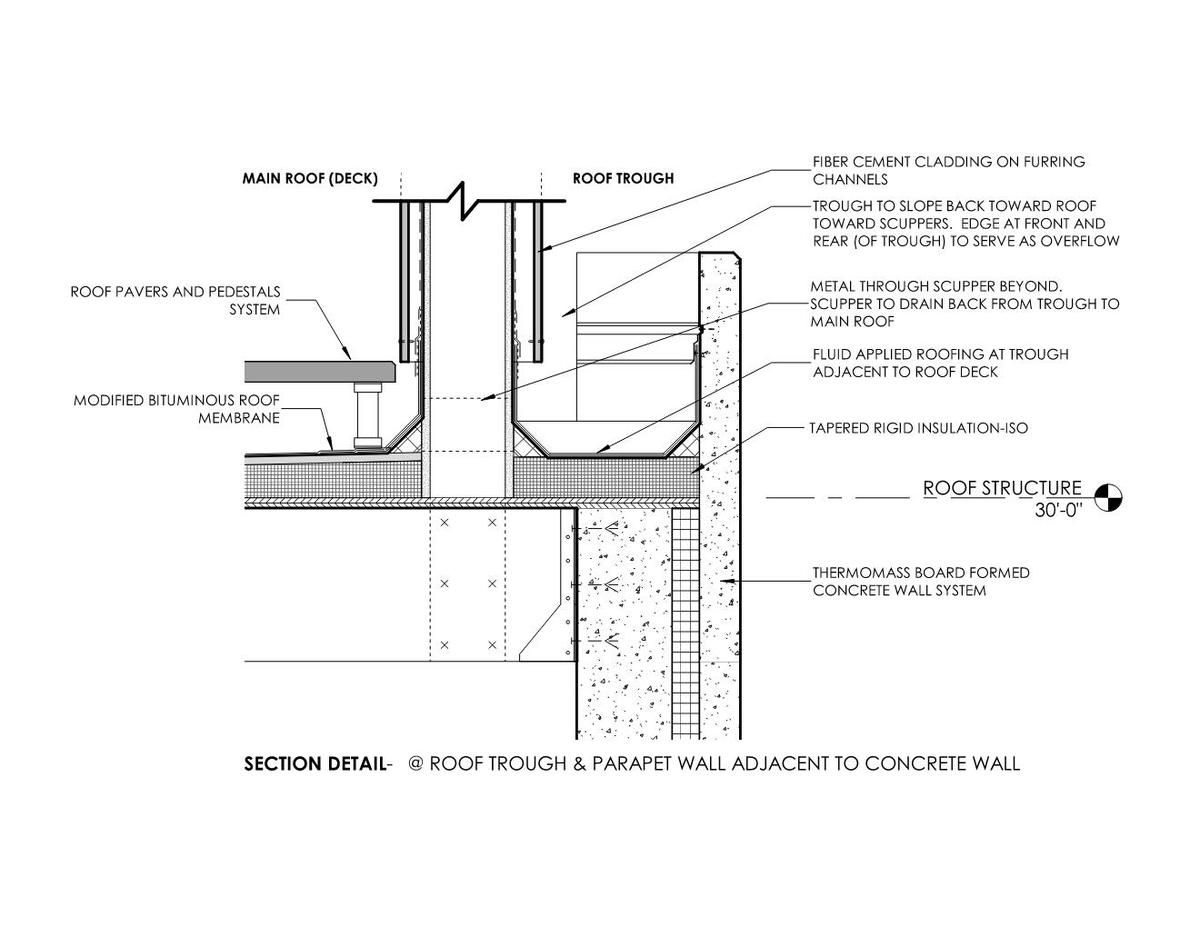 Lowell S E Studio Stat Page Green Roof Roof Detail Curtain Wall Detail