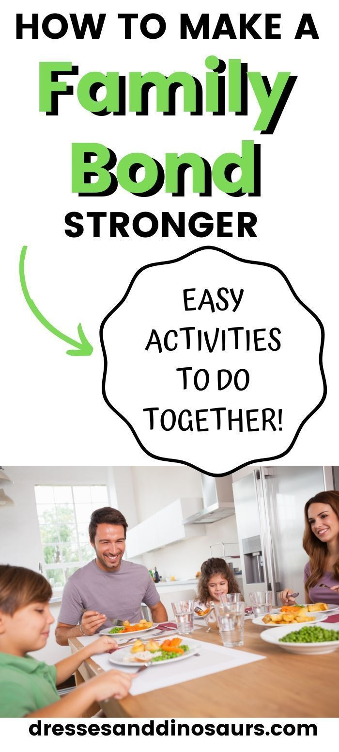 These family bonding ideas are a great way to get quality time together as a family.  Use these easy activities to do together to make that family bond stronger! #familybond #qualitytime
