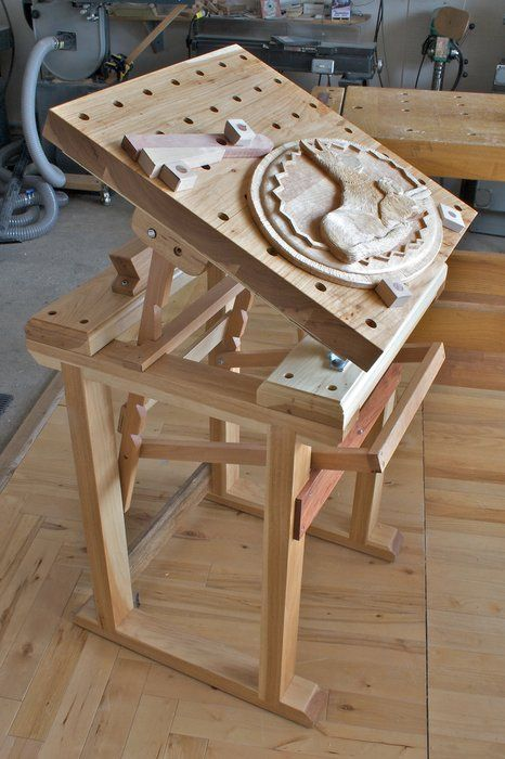 Amazing Carving Bench Plans Route Or For Other Chores Pins About Carving Benches  Hand Picked By Pinner Richard Merritt See More About Mobile Utility Bench  ...