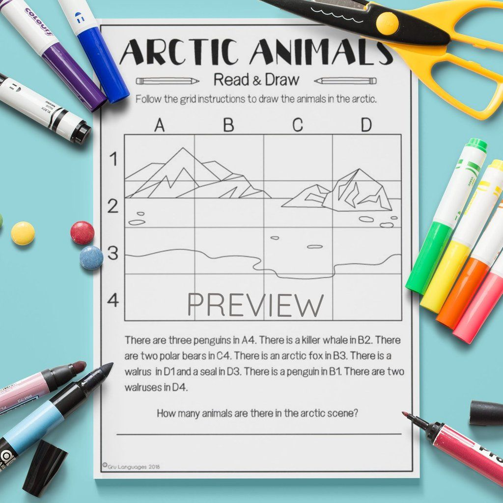 Arctic Animals Read Amp Draw