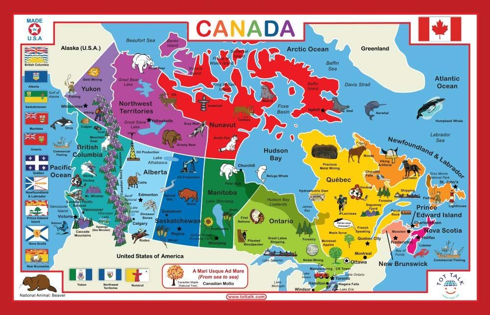Tot Talk Canada Educational Placemat