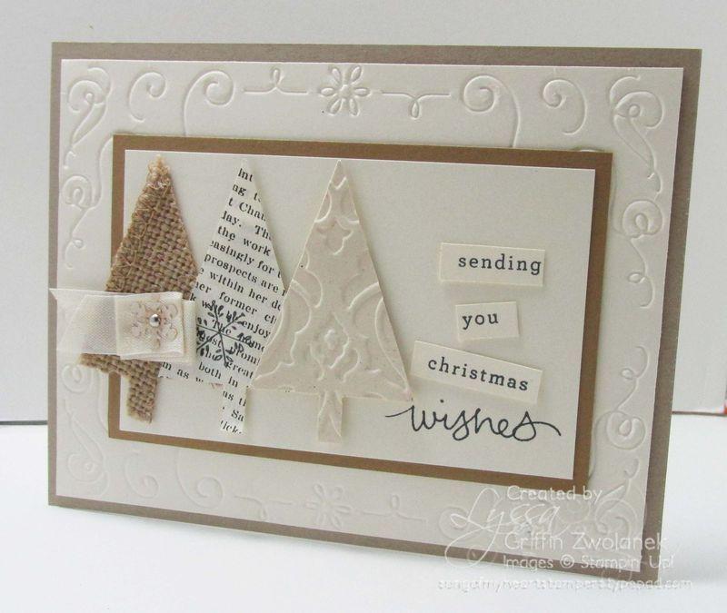 vintage triple trees card simple stamping pinterest weihnachtskarten karten und weihnachten. Black Bedroom Furniture Sets. Home Design Ideas