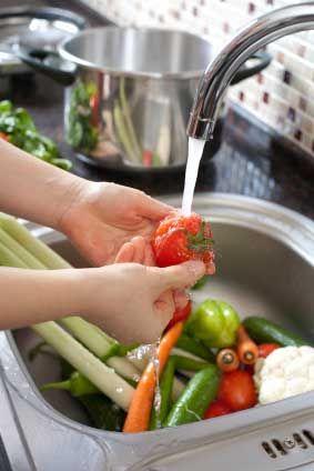Washing Vegetables | Fruit and vegetable wash, Fruit veggie wash, Food
