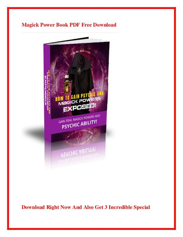 Magick Power Pdf