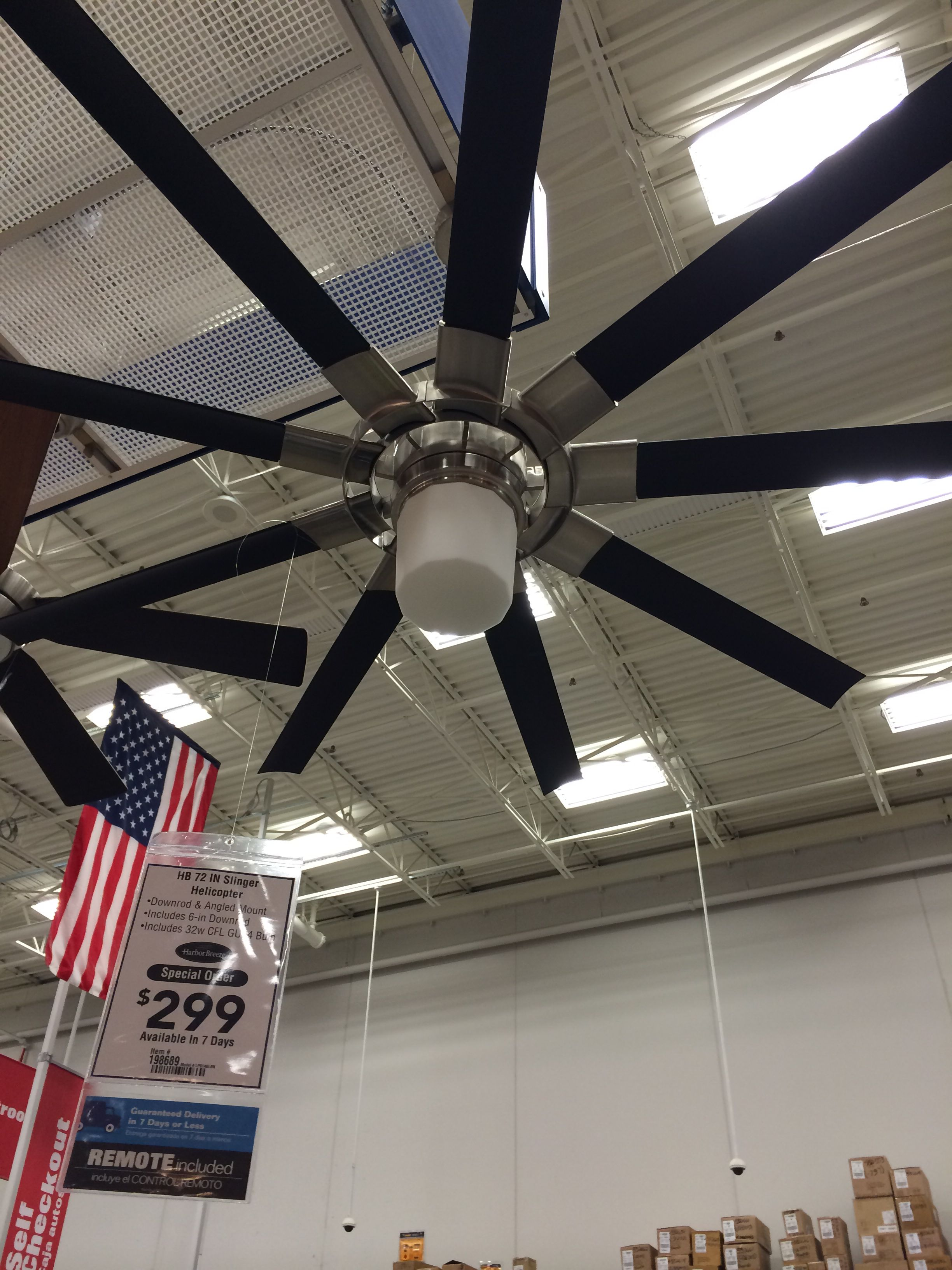 Helicopter fan from Lowes BEDROOM loft plans