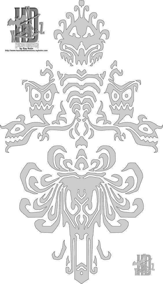 Haunted Mansion Wall Stencil Haunted Mansion Wallpaper Haunted Mansion Halloween Haunted Mansion Decor