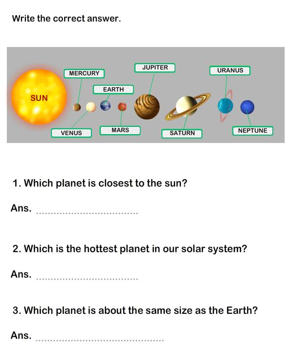 Solar System Worksheet 15 Science Worksheets Grade 1 Worksheets