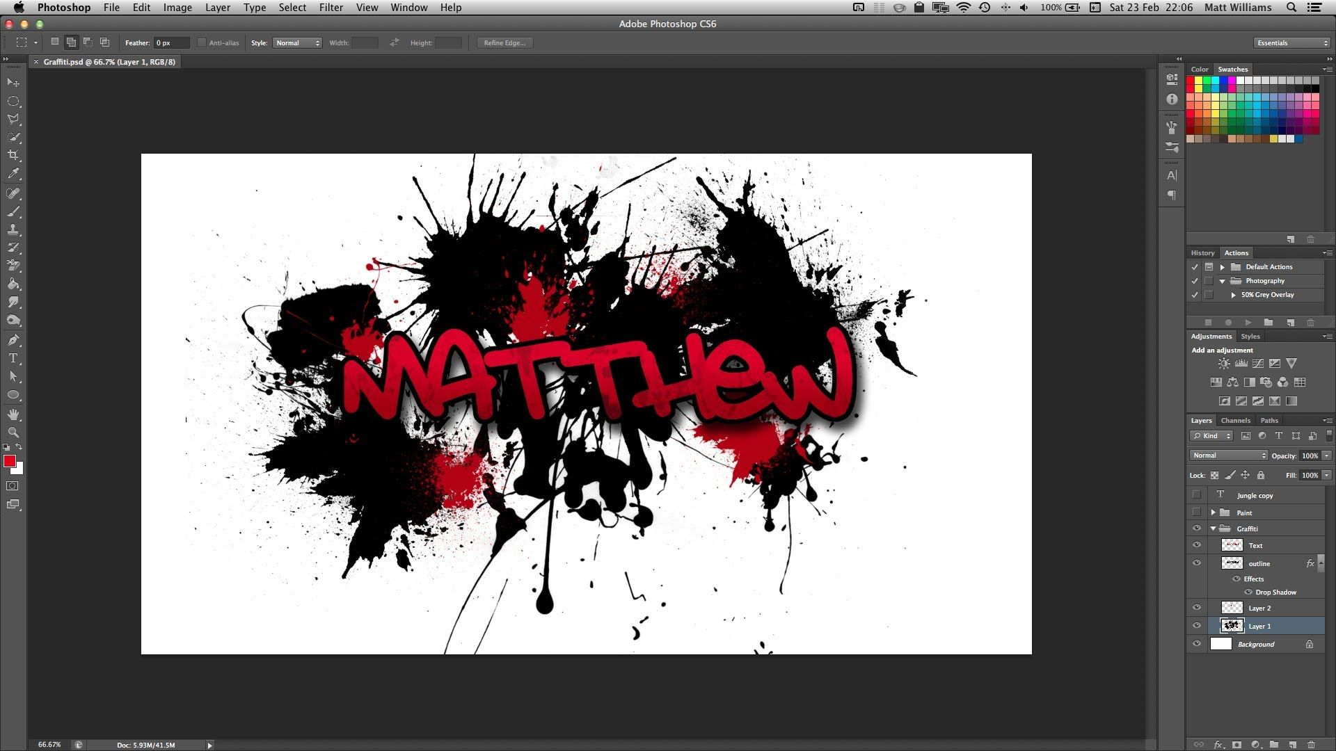 Photoshop graffiti text effect
