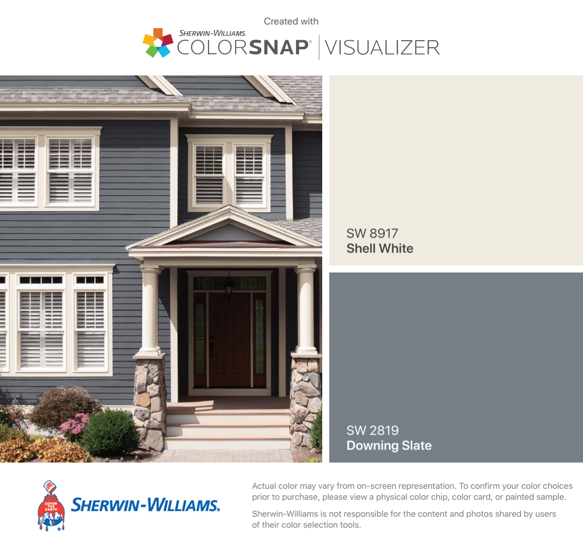 I Found These Colors With Colorsnap Visualizer For Iphone By Sherwin Williams Shel Exterior Paint Colors For House House Paint Exterior Exterior House Colors