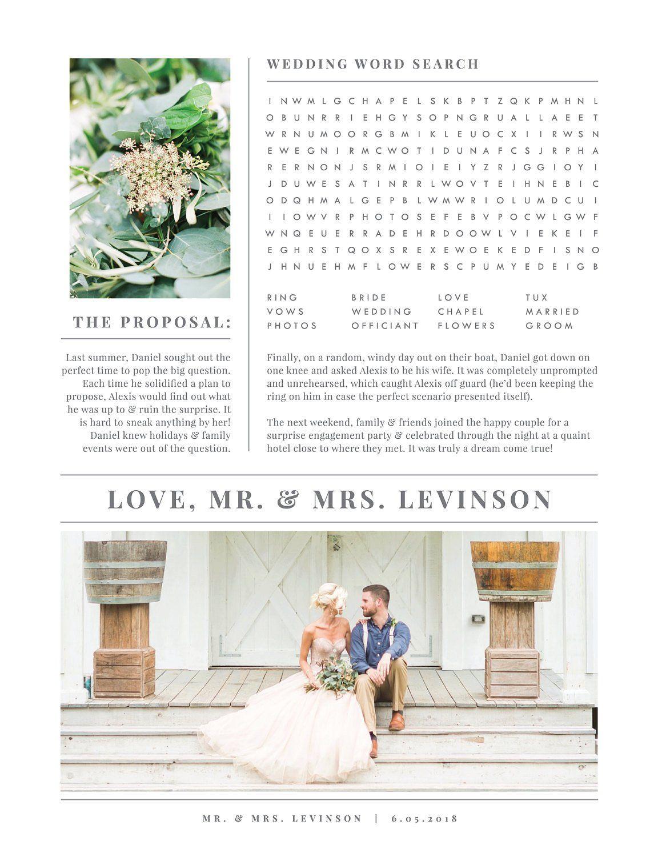 Wedding Newspaper Template Wedding Newspaper Wedding Newspaper