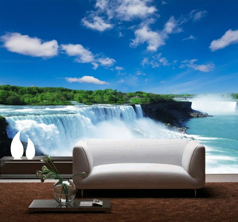 Best Custom 3D Clearly Waterfall 3D Papel De Parede Useage 400 x 300