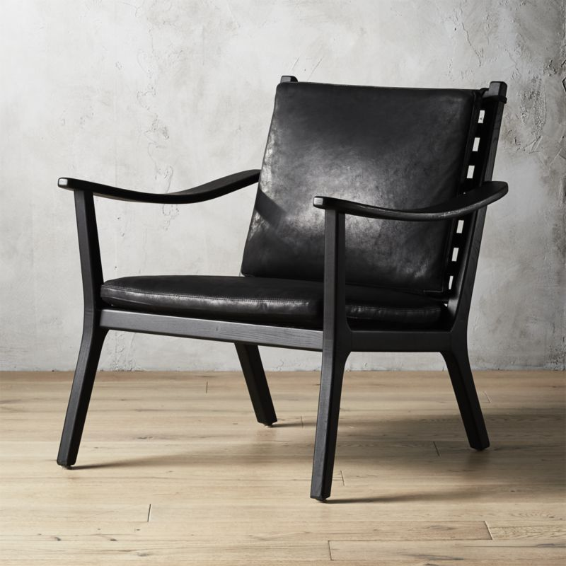Parlay Black Leather Lounge Chair Reviews With Images