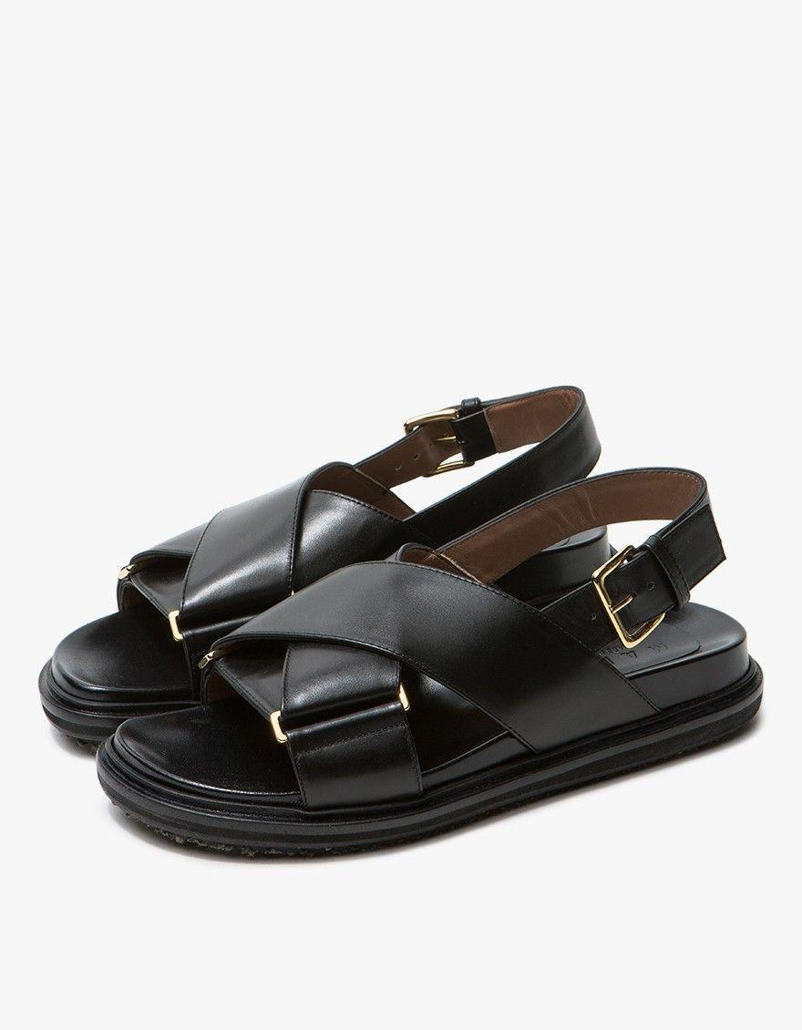 56cbb7af416 Marni   Fussbett Sandal in Black