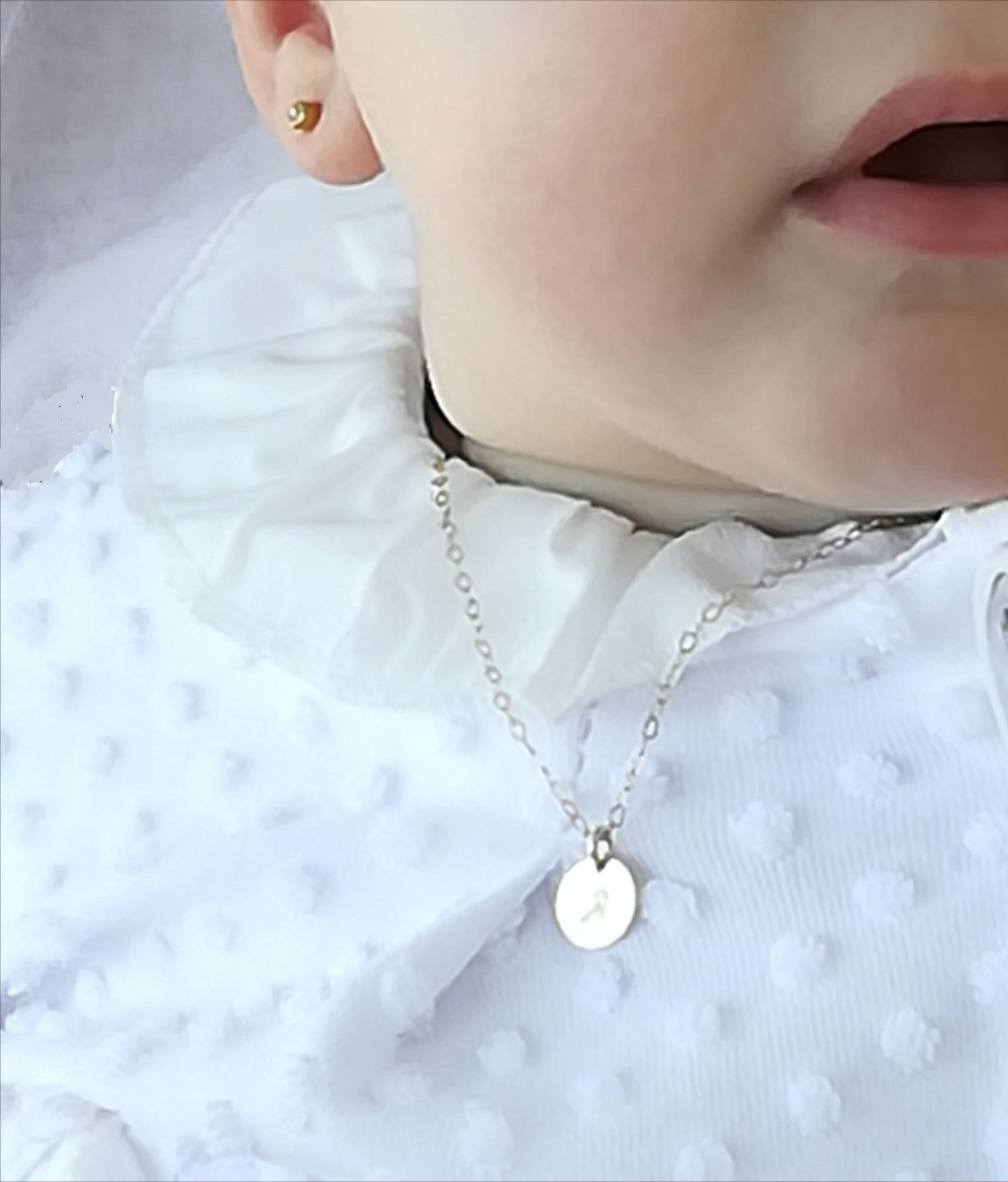 Communion Gift Children or Baby Jewellery Gift for Newborn Religious Jewellery Baptism Gift Delicate Cross 14k Gold Filled Necklace
