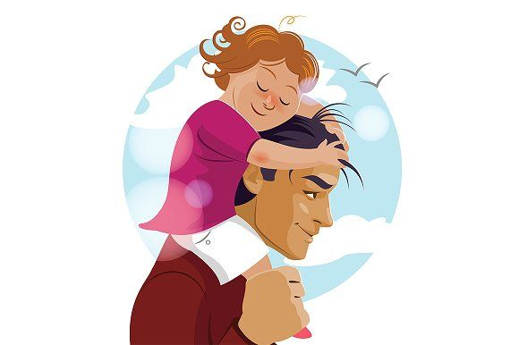 I Love You Daddy Father Day Cute Cartoon Wallpapers Mom Art Love You Dad