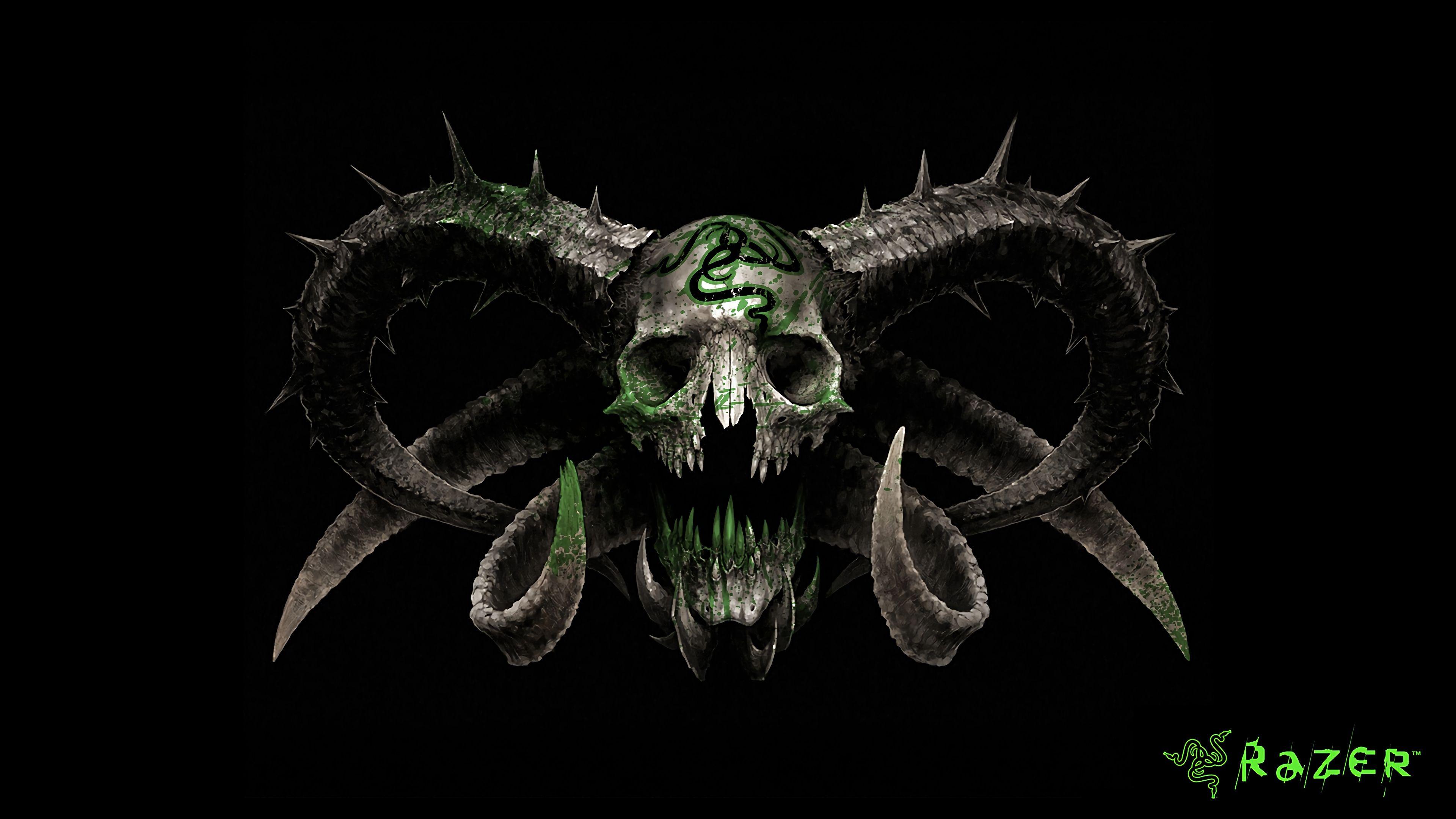 Razer Skull Logo 4K wallpaper