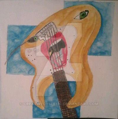 Guitar Face painting by CreativeDyslexic.deviantart.com on @DeviantArt