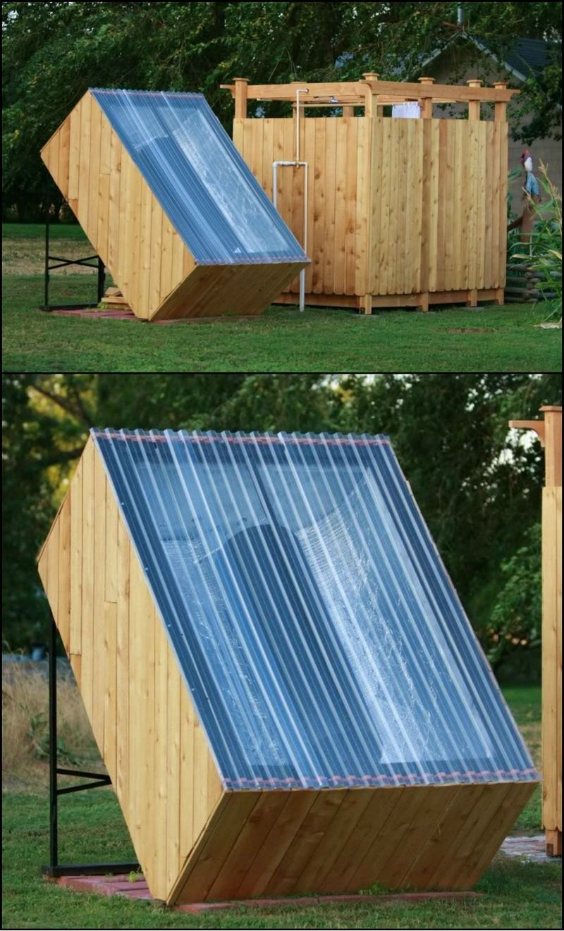 how to build an outdoor shower with a solar water heater - How To Build An Outdoor Shower