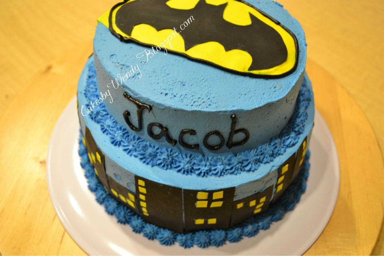 Decorating one cake at a time batman cake cake