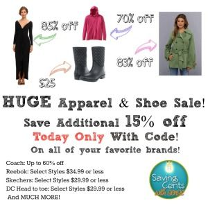 Save an additional 15% off at 6pm.com today with already low prices (Coach is 60% off!) #cybermonday #couponcode