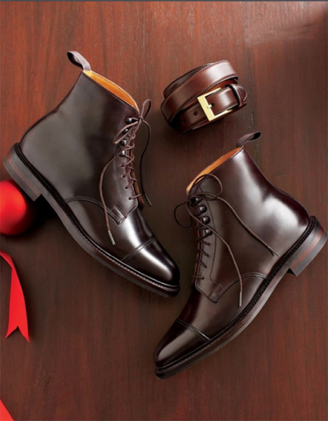 1e9cd1cf184 Cordovan boots by Peal   Co. for Brooks Brothers.