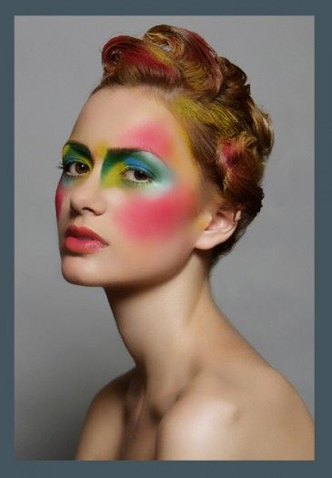 High fashion makeup looks 90