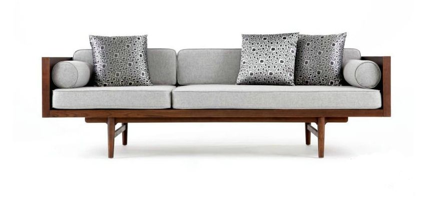 Modern chinese creative wood sofa leisure sofa couch for Zen sofa bed