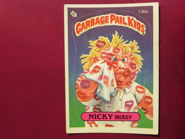 Garbage Pail Kids Trading Card 1986 Nicky Hickey 130a Garbage Pail Kids Cards Kids