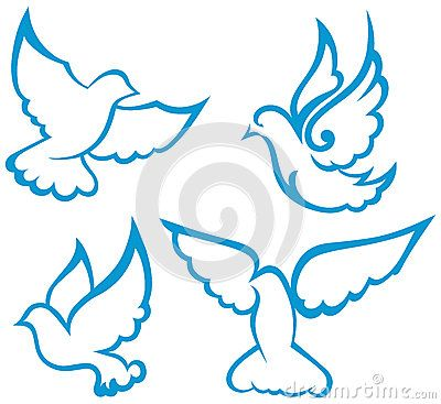 vector dove symbol 27238277 jpg birds pinterest symbols and rh pinterest com Turtle Doves Symbolism Dove Symbolism in the Bible
