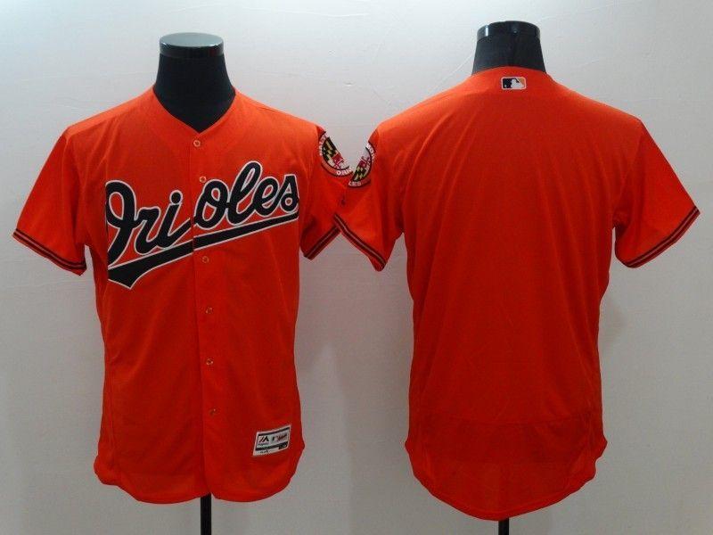fbb6c6c9c27 2016 MLB FLEXBASE Baltimore Orioles Blank Orange Jersey