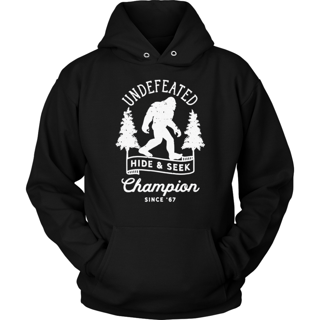 ba0213ab Bigfoot Undefeated Hide and Seek Champion Distressed T-Shirt ...