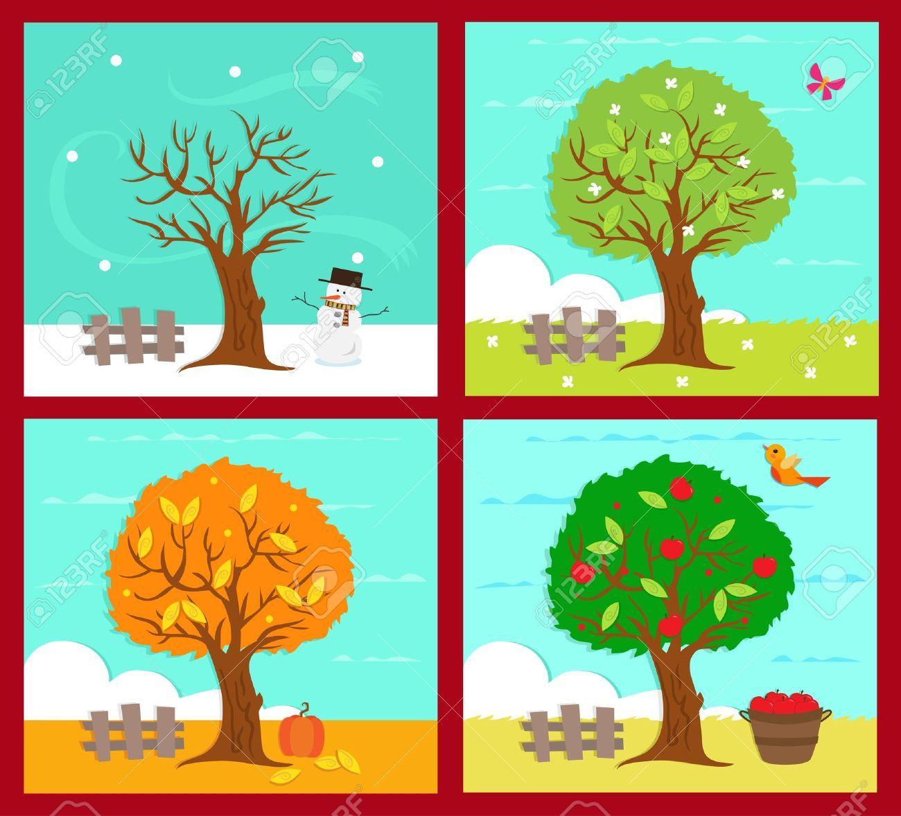 Rocni Obdobi Hledat Googlem Four Seasons Art Four Seasons Weather Art