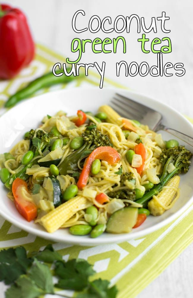 Photo of Coconut green tea curry noodles – Easy Cheesy Vegetarian