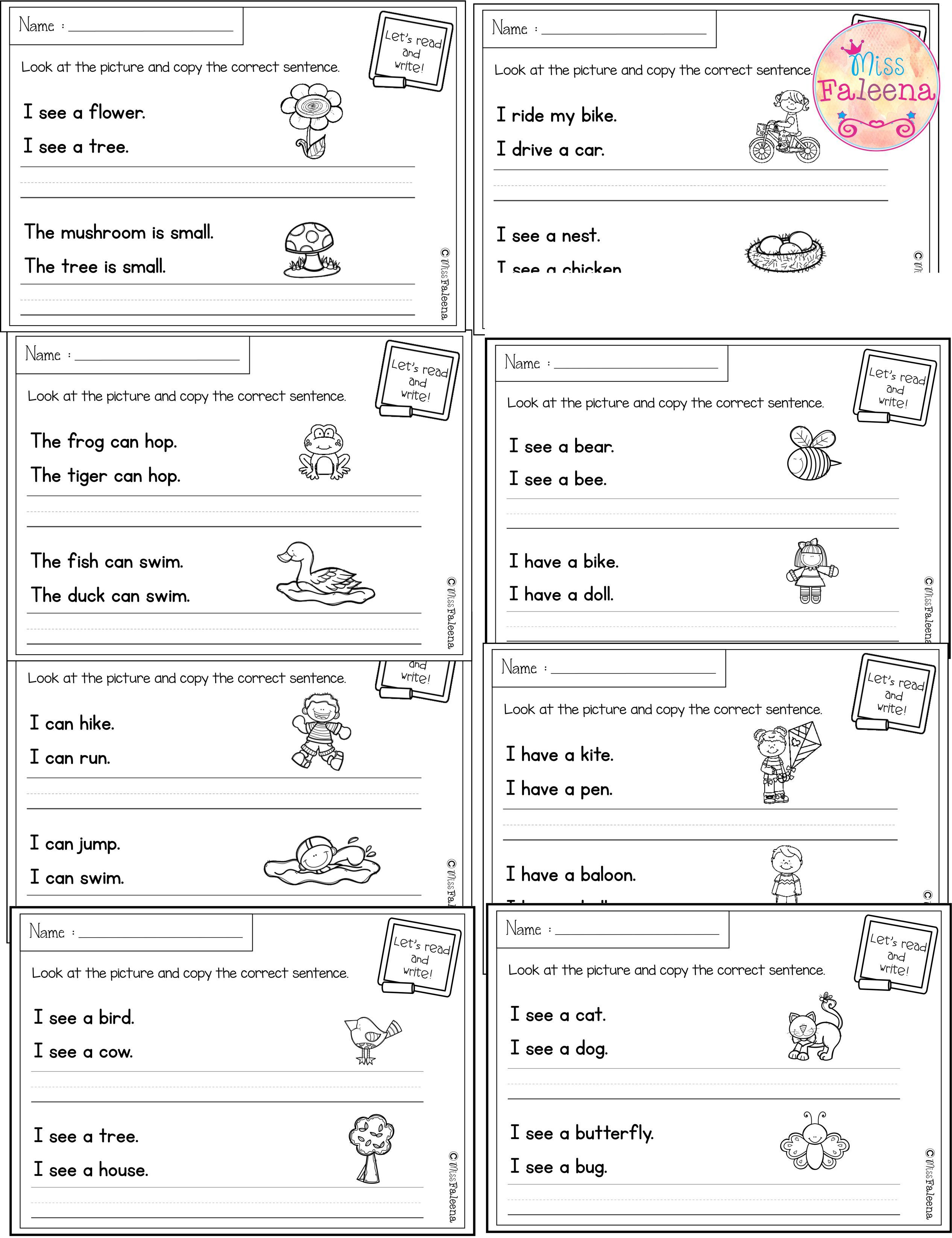 March Sentence Writing Correct Sentence Writing Worksheets And