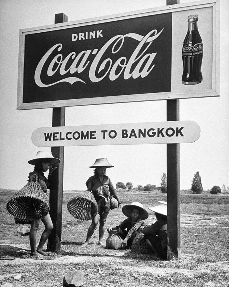 A Thai billboard makes a suggestion in 1950. (Dmitri Kessel—The LIFE Picture Collection/Getty Images)