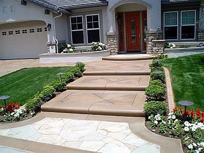 Best Concrete Steps Design Curved Step Noses Enhance The 400 x 300
